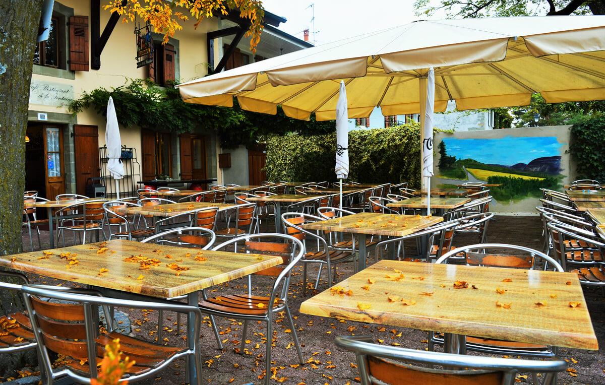 restaurant terrasse bernex