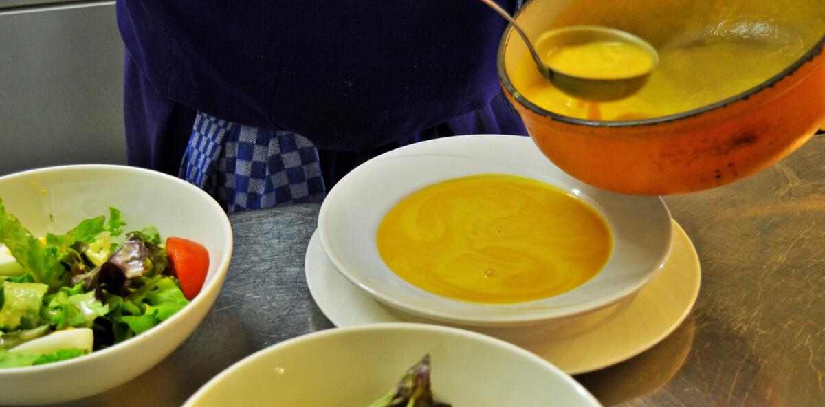 velouté soupe maison restaurant bernex